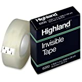 """3M Highland tape 6200 3/4"""" x 1296"""" ; 12 ROLL PACK, Made in the USA"""