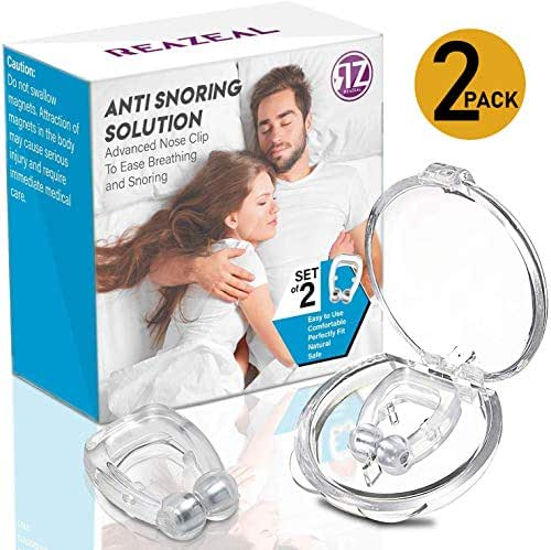 Latest Anti snoring Device Silicone Magnetic Anti Snore Nose Clip Effective-Easy Stop Snoring Solution Professional Sleeping Aid Relieve Snore for Men Women (2 pcs)