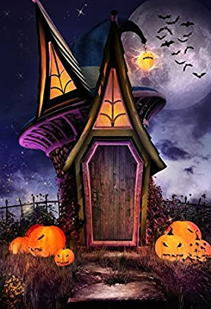 Amazon Com Yeele 5x7ft Happy Halloween Backdrop Horror Night Fairy Tale House Pumpkin Face Bat Party Banner Decor Photography Background For Pictures Baby Kids Portrait Photo Booth Shoot Vinyl Studio Props