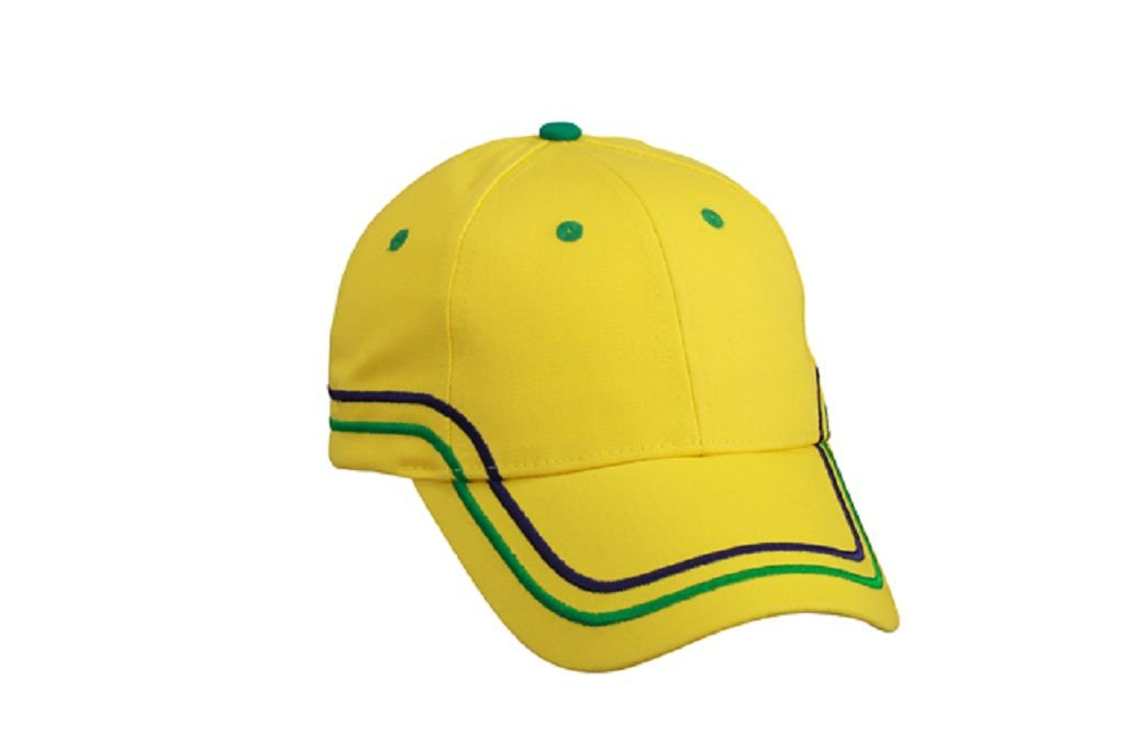 World of Shirt Brasilien//Brasil Fan Cap WM 2018 gelb