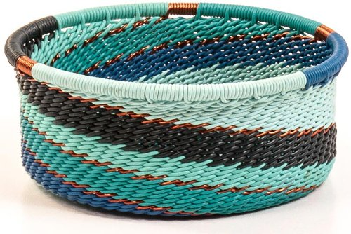 - Fair Trade Zulu African Wire Straight Sides Bowl, Approximately 3.25