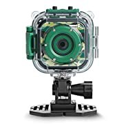 PROGRACE Kids Camera Waterproof Action Camera 1080P HD Video Camcorder with 1.77″ LCD and Digital Zoom for Boys Girls Birthday