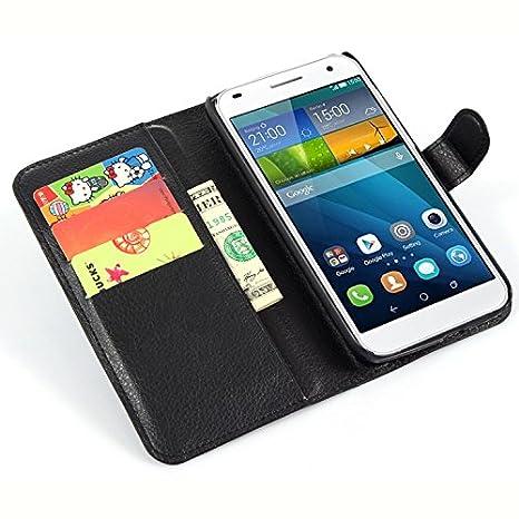 Nadakin Huawei Ascend G7 Calidad Premium Cartera de Cuero con Carcasa de Teléfono Flip Funda con Soporte Magnetico de Cierre para Huawei Ascend ...