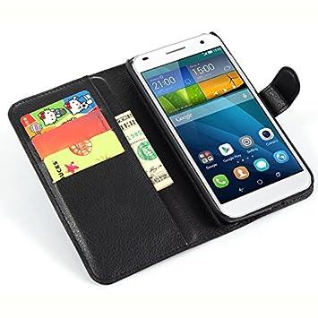 Nadakin Huawei Ascend G7 Cartera de Cuero con Carcasa de Teléfono ...