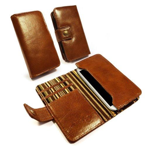Alston Craig Personalisierte Tasche Hülle (z.B Ihr Name, andere Name, Inschrift) Vintage echt Leder Brieftaschen Case Hülle Tasche für iPhone 6/7 / Galaxy S6 S7 / HTC One - braun