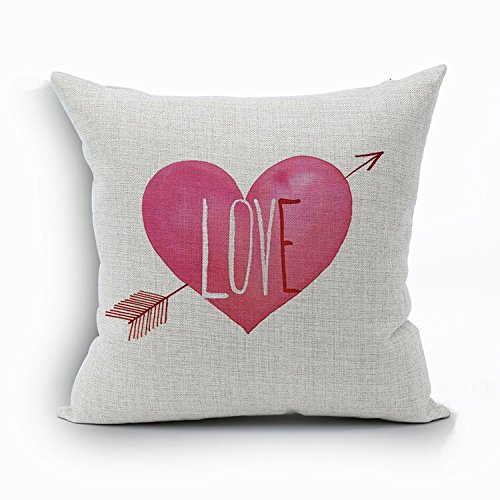 Ruideng-Lover-Heart-Pattern-Cotton-Linen-Square-Throw-Pillow-Case-Decorative-Cushion-Cover-Pillowcase-Cushion-Case-for-SofaBedChairBedding-18-X-18-Inch