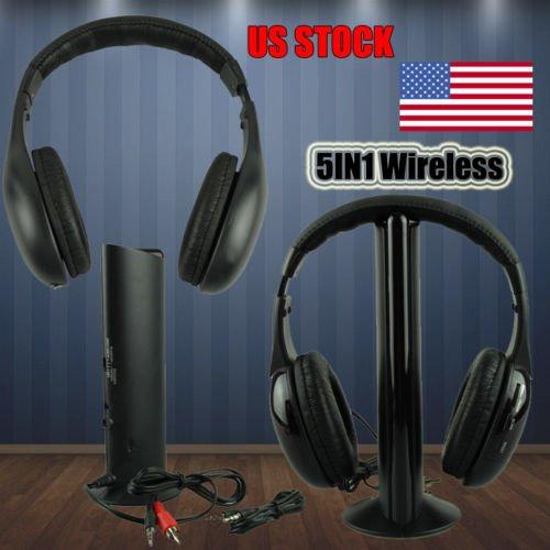 FidgetFidget Headphone 5IN1 Wireless Casque Audio Sans Fil Ecouteur Hi-Fi Radio FM TV MP3 MP4