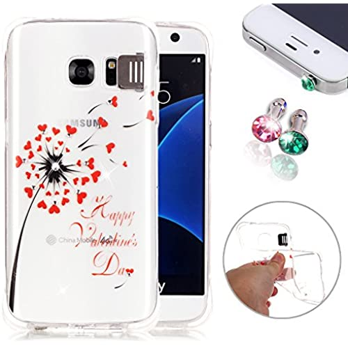 Pesrhoo, S7 Case, Soft TPU Flash Function Back Protective Case, Clear Bling Gold Crown Crystal Skin Anti-Scratch Sales