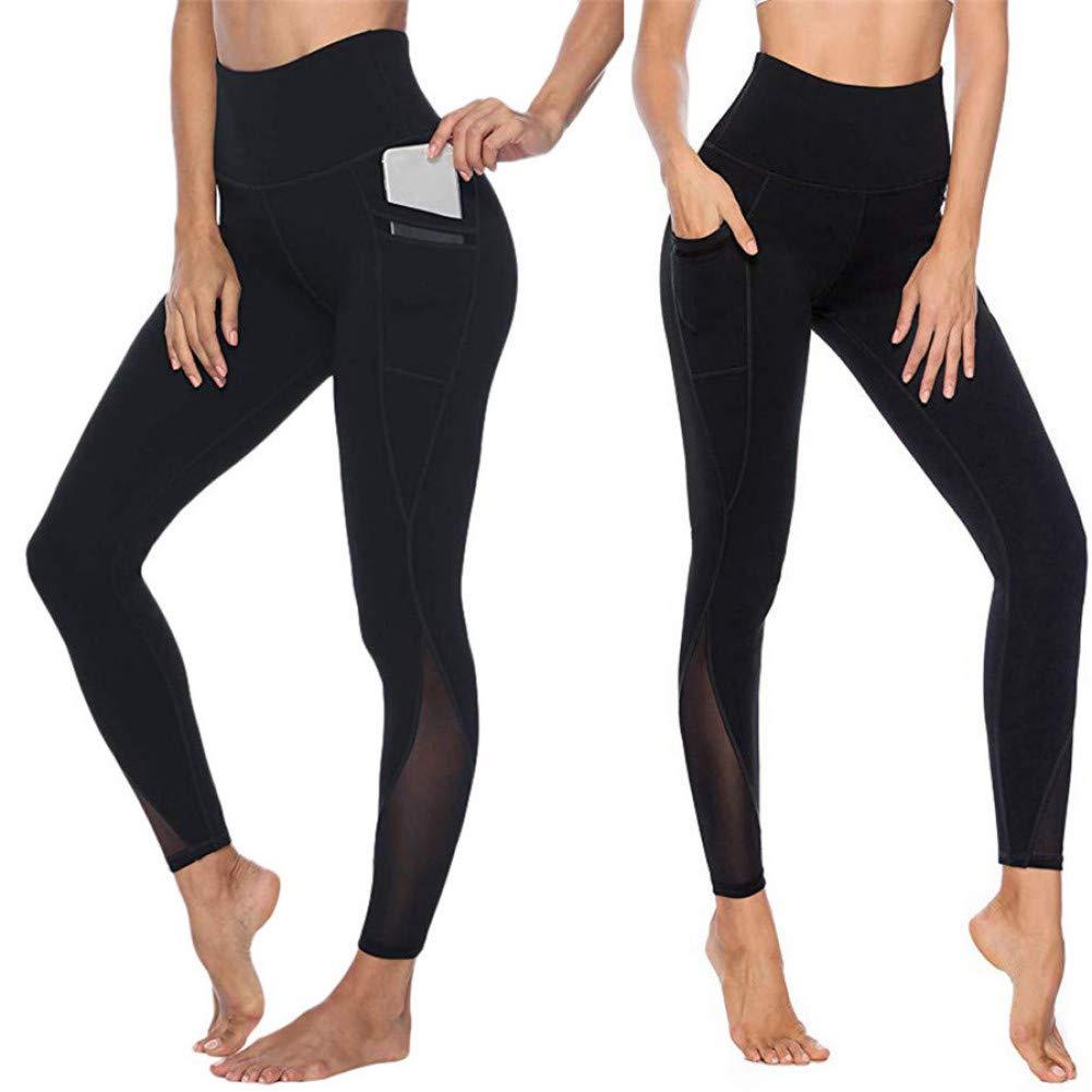 YUYOGAP Sportyogahosen der Frauen lässige Strumpfhosen Eignungsübung laufende Yogahosengamaschen Schnelle trockene Yogahosen drücken hoch