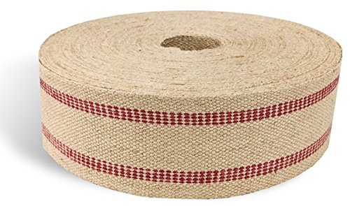 (Red Strip 11lb Upholstery Craft Jute Webbing 3.5