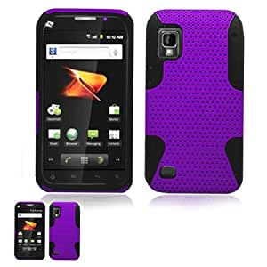 ZTE Warp Purple and Black Hybrid Case