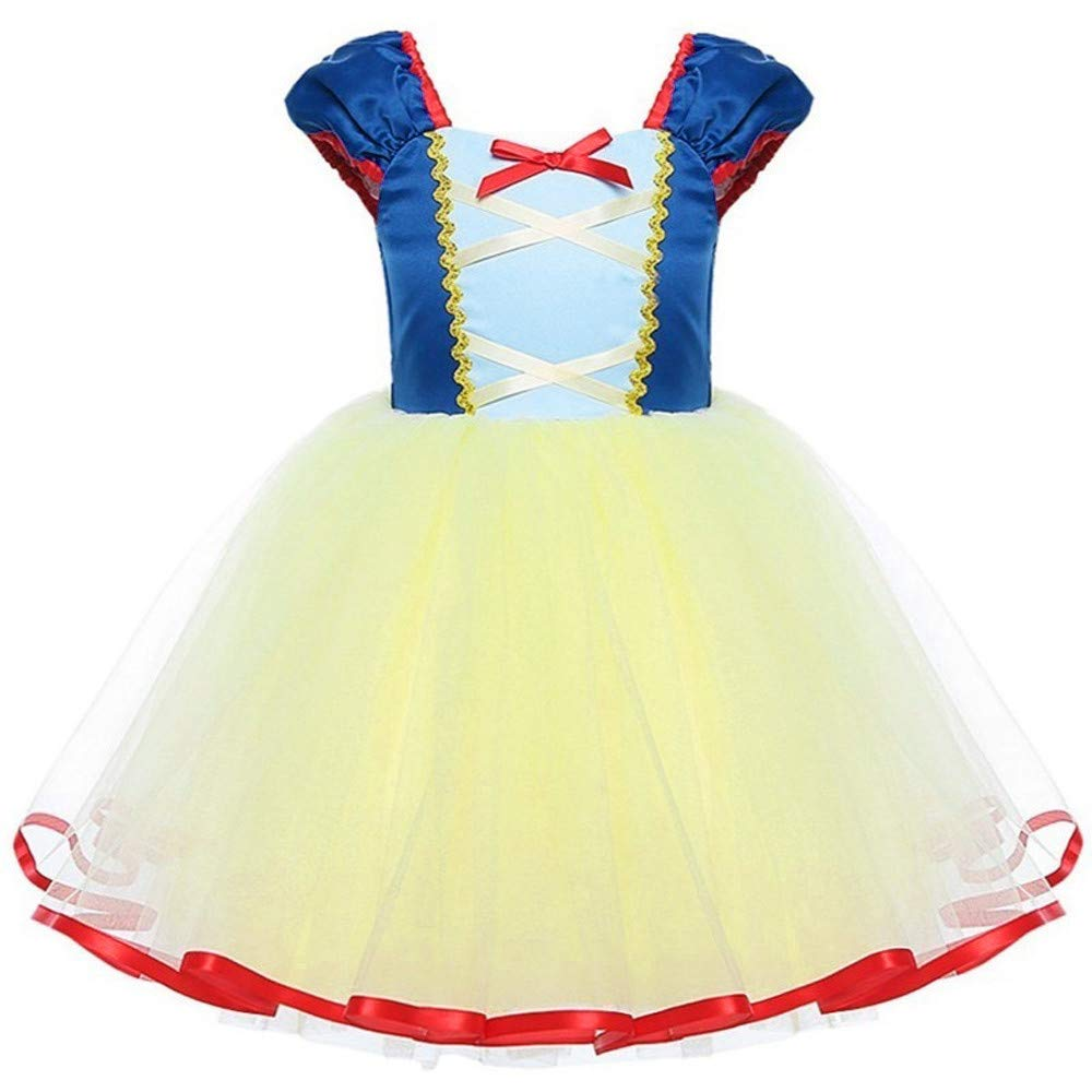 Christmas Baby Girls Tutu Dresses Short Sleeves Princess Dress Lovely Lace Party Vintage Tulle Toddler Christmas (Age:4 Years, Blue) Fdsd