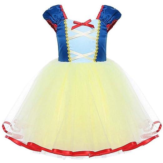 ecdc7a977dd32 Mamum Enfant Fille Déguisement Robe Florale Princesse Tutu Jupe Costume de  Photographie Cérémonie Anniversaire Fête Soirée