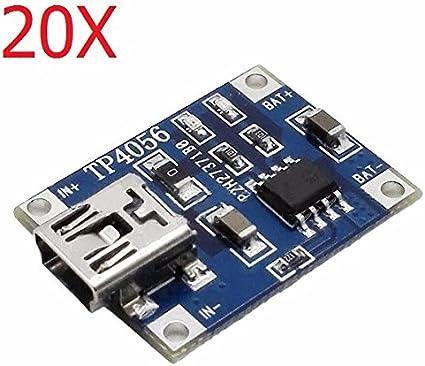 5 V 1 A Batería Lipo Carga TP4056 Placa Módulo De Litio Cargador USB 18650 10 un