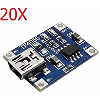New 20X TP4056 5V 1A Lipo Battery Mini USB Charging Board Charger Module By KTOY