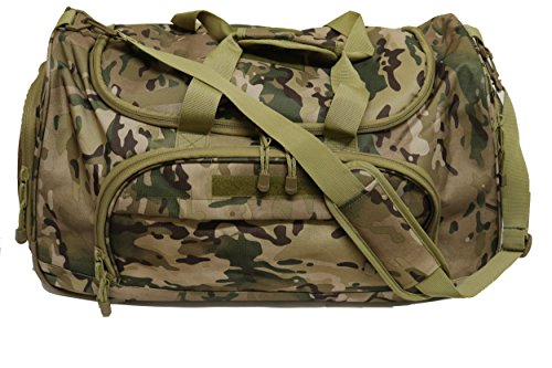 eb1e40309f ArmyCamoUSA Military Tactical Duffle Bag Gym Travel hiking   trekking  Sports Bag with Shoes Compartment