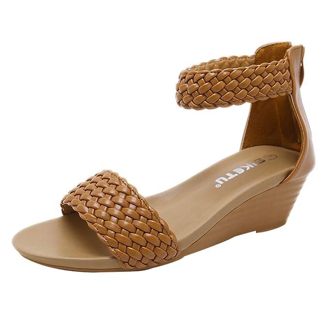 534364e018d Amazon.com  Corriee Women Mid Heel Sandals Office Sandals Slippers ...