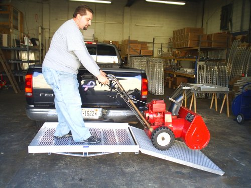 """Five Star Automotive >> Cargo Carrier W/ramp 32""""W - To Load Snow Blowers"""