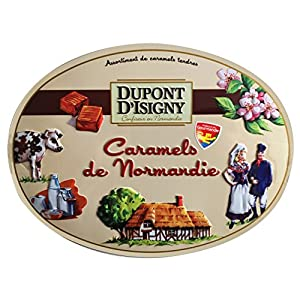 Dupont d'Isigny French Gourmet Caramels 4 Flavors, Gift tin 8.5oz 240g