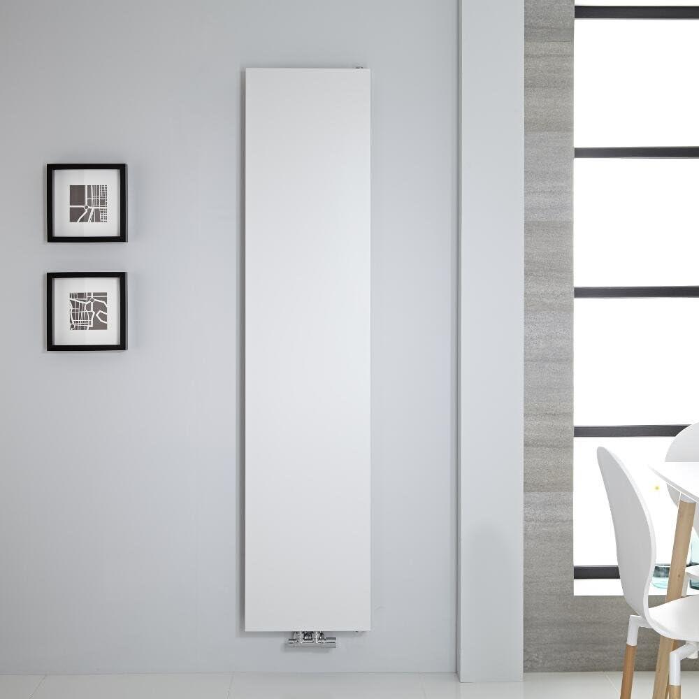 Acabado Blanco 1123W Dise/ño de Placa Radiante 1800 x 500 mm Hudson Reed Rubi Radiador de Dise/ño Moderno Calefacci/ón de Lujo