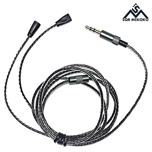 Sqrmekoko Upgrade Cable for Sennheiser IE8 IE80 IE8i Earphones