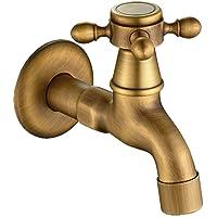 KUNGYO Wijnoogst Verkoudheid Waterkraan met Single Dwarsgreep G1 / 2-interface - Muur Gemonteerd Wastafel Kraan voor…