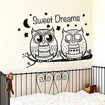Sweet Dreams Dos búhos lindos etiqueta de la pared Vinilos ...