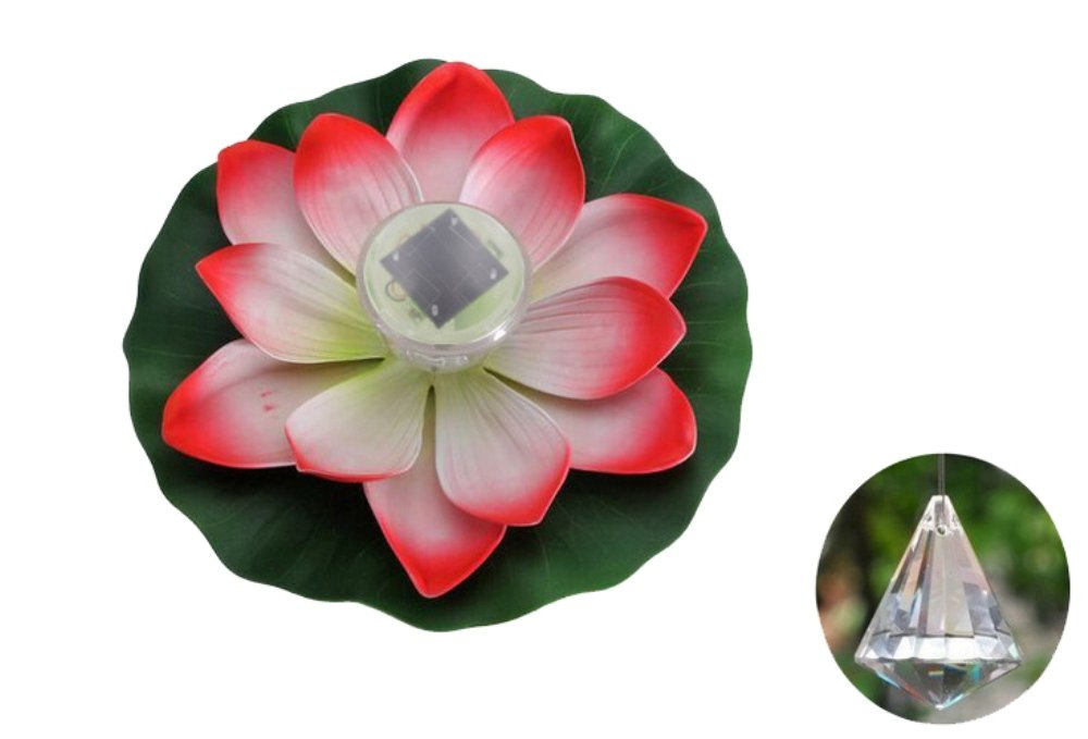 Heartte@ LED Solar Powered Pool Water Lights - Lotus Flower Floating Light - Color Changeable -For Christmas Wedding Party Events Holiday Easter Valentine Day (SNS-0021)