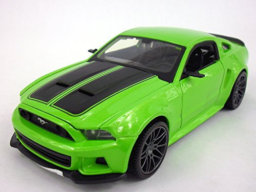 2014-ford-mustang-gt-1-24-scale-diecast-metal-model-green