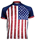 Primal Wear USA Stars and Stripes U.S. Flag Cycling Jersey Men's Medium Short Sleeve