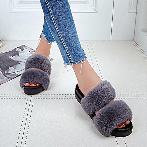 Invierno Mujer Y De En Para El Zapatillas Casa Otoño Mhgao Peluche 6Ivaqv