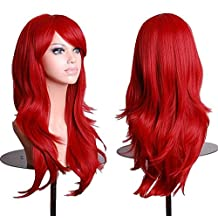 Cool2day®70cm 300g Long Hair Curls Cosplay Wigs Party wig 12 Colors Available (Red)
