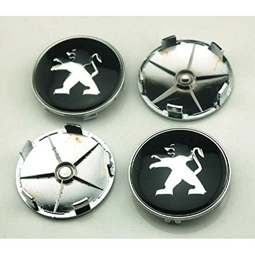 4pcs W031 68mm Car Styling Accessories Emblem Badge Sticker Wheel Hub Caps Centre Cover PEUGEOT 206 207 307 301 308 408 508 3008 - Buy Online in UAE.