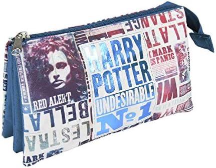 Artesania Cerda Harry Potter - Estuche con 3 Compartimentos, 22 cm, Azul: Amazon.es: Equipaje