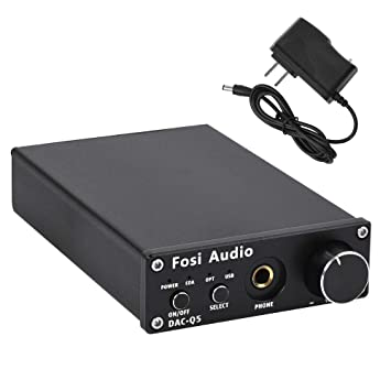 Fosi Audio DAC Converter 24-bit/192kHz Optical/Coaxial/USB Digital-