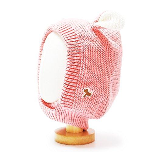 HappyTree Kids Baby Winter Warm Fleece Knit Earflap Hood Hat Pink