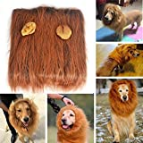 Lion Mane Wig for Dogs, Funny Pet Cat Dog Costumes for Halloween Christmas Festival Fancy Dress up, Furry Pet Clothing Accessories