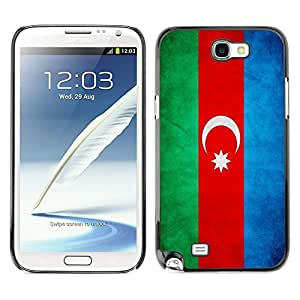 Shell-Star ( National Flag Series-Azerbaijan ) Snap On Hard Protective Case For Samsung Galaxy Note 2 II / N7100