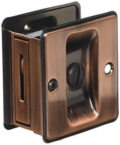 Hinges Butt Extruded - idh by St. Simons 25411-08A Premium Quality Solid Brass Pocket Privacy Door Pull Antique Copper