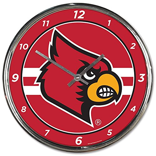 Wincraft Louisville Cardinals 12 inch Round Wall Clock Chrome Plated