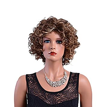 Amazon.com : Short Curly Wigs For African American Women Highlights ...