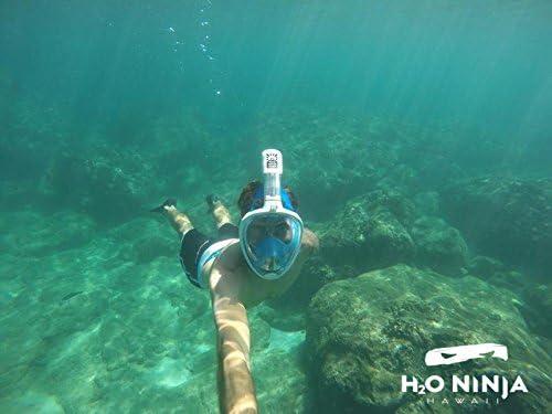 Amazon.com : H2O Ninja Full Face Snorkel Mask- S/M Blue ...
