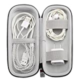 EVA Headphone Hard Travel Carrying Case, Portable Storage Bag For Bluetooth Wired Headset Earphone Earbuds MP3, AirPods, Lighting Cable, Power Adapter