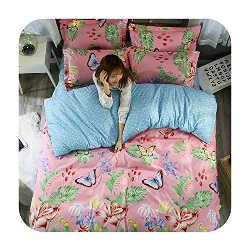 Pillowcase Barry Standard - Barry-Story Beddings 3Pcs Butterfly Pillowcase 48x74cm Printed Beding Set Polyester Duvet Cover Set Twin Queen King Size Sj80,13,Single 150x200cm,No Sheet