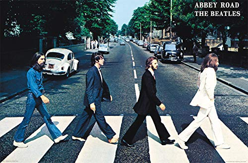 "Trends International Beatles-Abbey Road Wall Poster, 22.375"" x 34"", Multi"