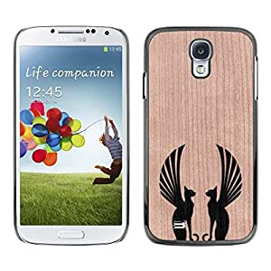 - Sphinx Cat Mythical Symmetry - - Funda Delgada Cubierta Case Cover de Madera FOR Samsung Galaxy S4 i9500 i9508 i959 BullDog Case