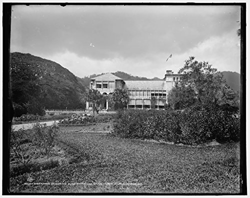 Vintography 24 x 30 Giclee Unframed Photo Governor's Residence in The Botanical Gardens Port Spain Trinidad W I 1900 Detriot Publishing co. 46a by Vintography