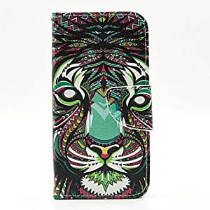 qyf The Lion Pattern PU Leather Case Cover with Stand and Card Holder for Samsung Galaxy S6