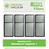 8 Style EF-1 Exhaust HEPA Filters for Kenmore Whispertone/Progressive Vacuums; Compare to Kenmore Part Nos. 86889, 20-86889, 40324; Designed & Engineered by Think Crucial