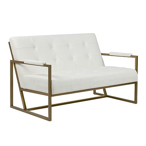 Amazon.com: Tinta + Ivy Waldorf Loveseat Color Blanco Ver ...